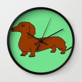 The cute dachsund Wall Clock