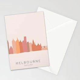 Melbourne Skyline Stationery Cards