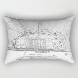 Vintage Map of The Siege of Savannah GA (1779) Rectangular Pillow