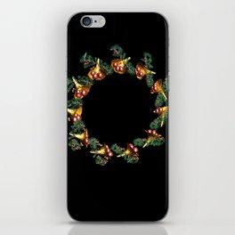 Fractal Christmas Wreath iPhone Skin