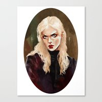 warrior Canvas Prints featuring Warrior by Feline Zegers