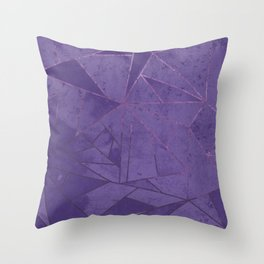 Amethyst Abstract Geometric Lines Throw Pillow