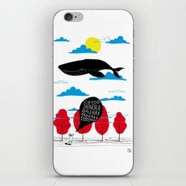 CIAO SIGNORA BALENA iPhone Skin