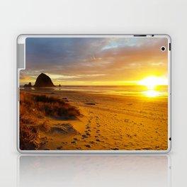 Cannon Beach Oregon at Sunset Haystack Rock Laptop & iPad Skin