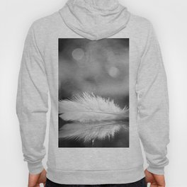 White Feather In Black And White Bokeh Background #decor #society6 #buyart Hoody