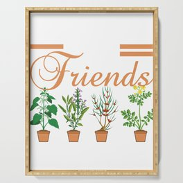 Plants Are Friends Unisex Plant Lovers Hipster Farmer Tumblr Hipster T-shirt Design Greens Cactus Serving Tray