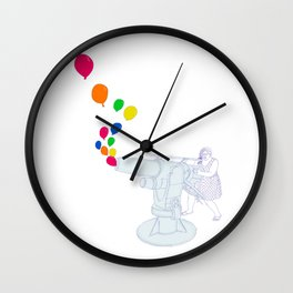 Balloon Cannon Wall Clock
