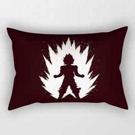 Super Saiyan Vegeta Black White Rectangular Pillow