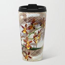 A Brushstroke Of Orchid Genus Travel Mug
