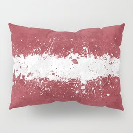 Latvia Flag - Messy Action Painting Pillow Sham