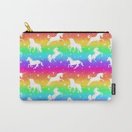 Rainbow Unicorn Happy-Fun-Time Carry-All Pouch