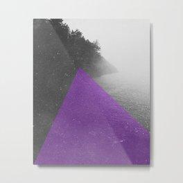 NEON NATURE | Purple Metal Print