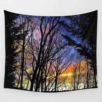 silhouette Wall Tapestries featuring Silhouette by Andooga Design