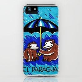 Loteria Ape #5: El Paraguas iPhone Case