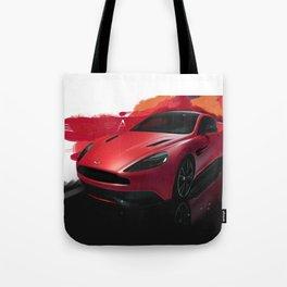 Aston Martin Vanquish S Digital Painting   Automotive   Car Tote Bag