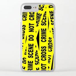 Crime Scene Tape Clear iPhone Case