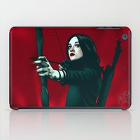 allison argent iPad Cases featuring Allison - Deep In Red by xKxDx