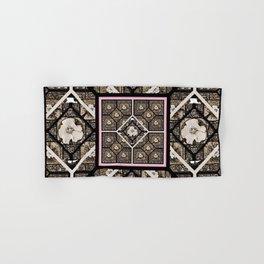 Cherokee Rose Pattern 1 brown and pink Hand & Bath Towel