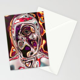 neural portrait #1 Stationery Cards