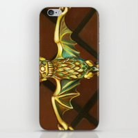haunted mansion iPhone & iPod Skins featuring Haunted Mansion Bat Stanchion by ArtisticAtrocities