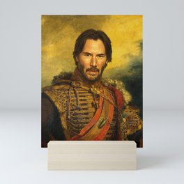 Keanu Reeves - replaceface Mini Art Print