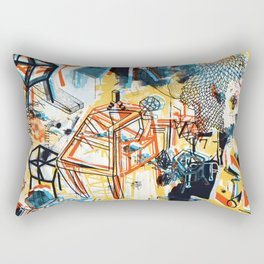 yellowredblueandblack Rectangular Pillow