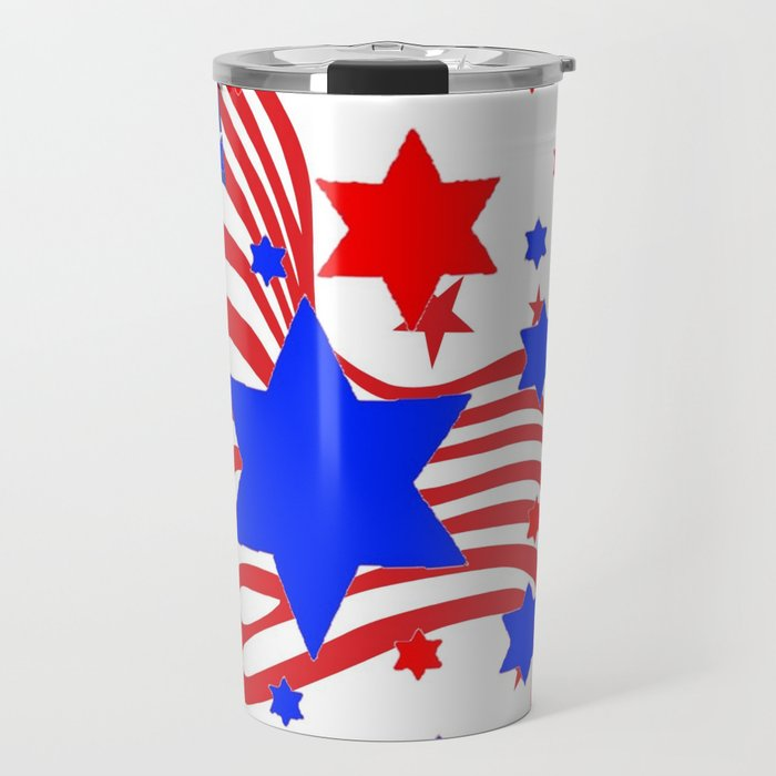 PATRIOTIC JULY 4TH AMERICAN FLAG ART Travel Mug