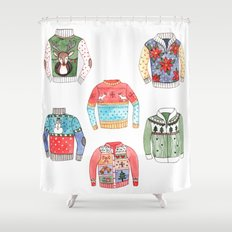 Ugly Sweaters Shower Curtain