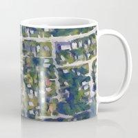 washington dc Mugs featuring Washington DC  by Sorogon Earth Art