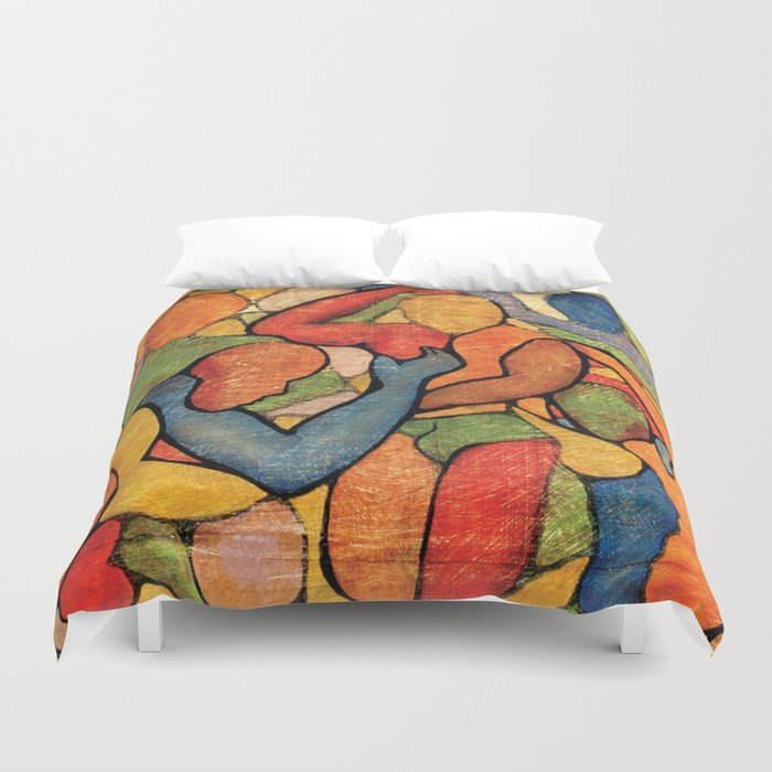 Rainbow Party Duvet Cover