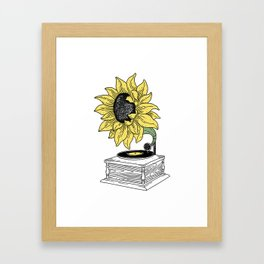 Singing in the sun Framed Art Print
