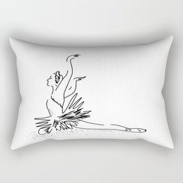 white swan.  Dance (  https://society6.com/vickonskey/collection ) Rectangular Pillow