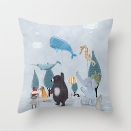 nature parade Throw Pillow