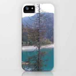 From the Edge of the Deep Green Lake iPhone Case
