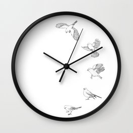 Juncos in Winter Wall Clock