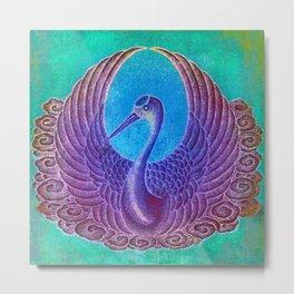 Matchbox Stork Metal Print