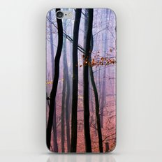 Foggy fall forest photography iPhone & iPod Skin