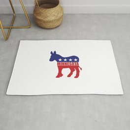Minnesota Democrat Donkey Rug