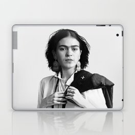 Frida Kahlo Wearing White Shirt Laptop & iPad Skin