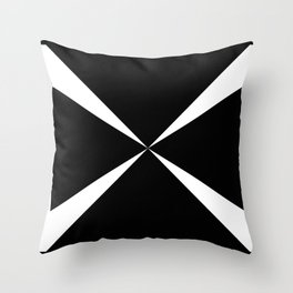 Simple Construction White Throw Pillow