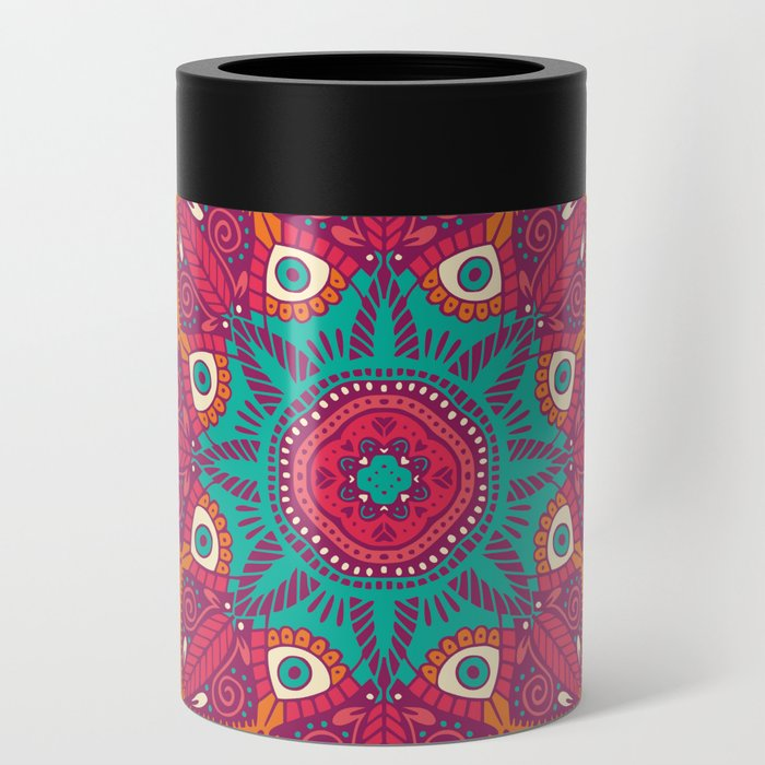 Colorful Mandala Pattern 017 Can Cooler