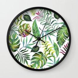 Tropical Flora #society6 #decor #buyart Wall Clock