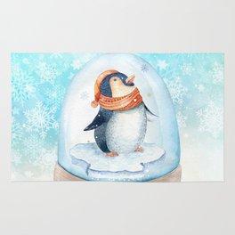 Christmas penguin #3 Rug