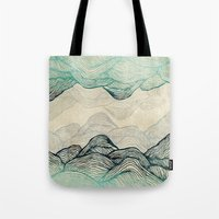 rose Tote Bags featuring Crash Into Me  by rskinner1122