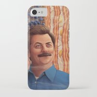 swanson iPhone & iPod Cases featuring Ron Swanson by Lydia Guadagnoli