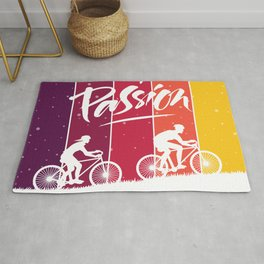 My Passion - Bicycle Ride - Color Strips Rug
