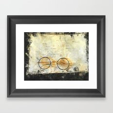 Father's Glasses Framed Art Print