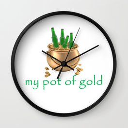My Pot of Gold Wall Clock