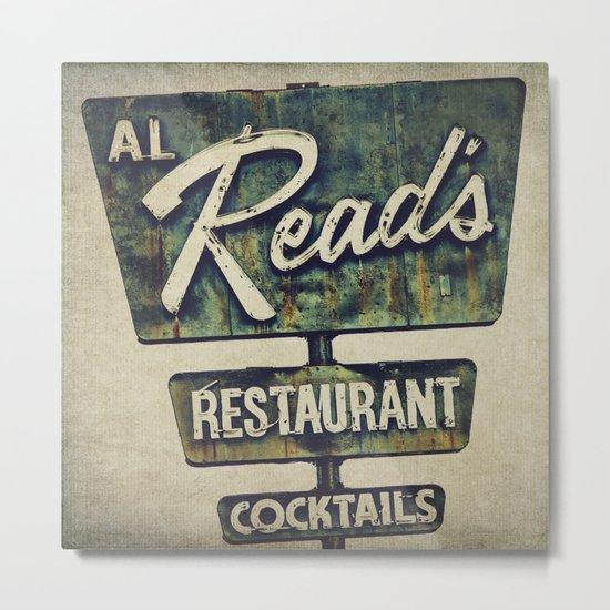 Al Read's Restaurant Vintage Sign Metal Print