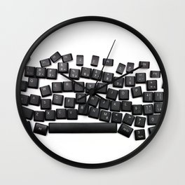 dyslexia keyboard Wall Clock